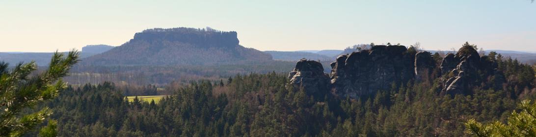 Blick zum Lilienstein in der Sächsischen Schweiz